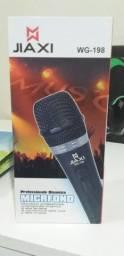 Microfone Profissional Wg-198 e Suporte Tripe Para Microfone Condensador