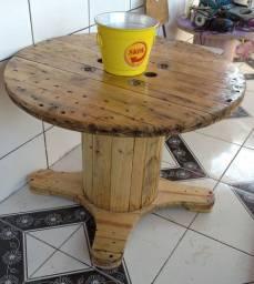 Mesa de bobina de madeira Pronto por buscar otje 350 peças