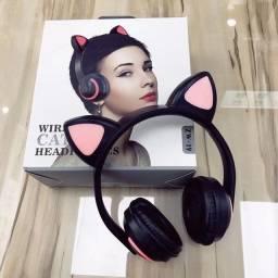 Fone De Ouvido Orelha De Gato Bluetooth Zw-19