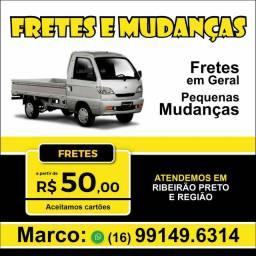 Carretos apartir de 50 reais