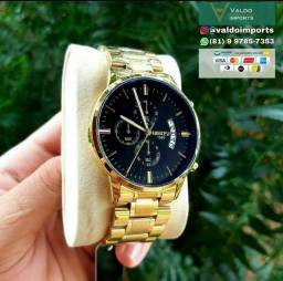 Relógio Casual masculino Nibosi 1985 - NOVO (100% Funcional)