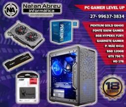 PC Gamer Intel Pentium Gold G6400 + GTX 750Ti + 8Gb HyperX + Ssd + Hd - Loja Natan Abreu
