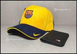 Kit Boné Nike Barcelona e Carteira a pronta entrega