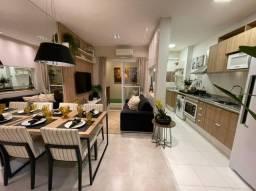 Apartamento em Hortolândia com 2 dormitórios, varanda e 2 vagas de garagem