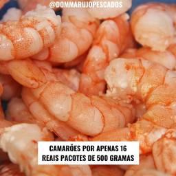 Promoção de camarões por apenas 16 pacotes de 500 gramas