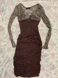 Vestido marrom justinho