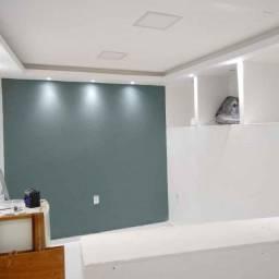 Rebaixamento de teto e divisórias em drywall