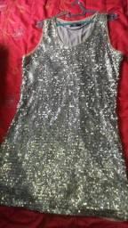 Vestido prata GG