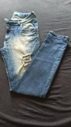 Calça jeans e calça social
