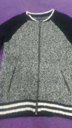 casaco preto e branco