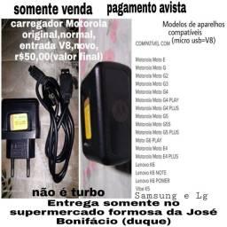 Carregador Motorola original,normal,entrada (V8),r$50,00(valor final)/leia o anúncio