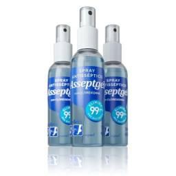 Asseptgel Spray Antisséptico 120ml Kit c/ 3Un