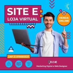 Site com Design profissional e com SEO Google / Loja Virtual