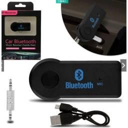 Adaptador Bluetooth P2 Música Chamada Som Carro 3.5mm Sem Fio