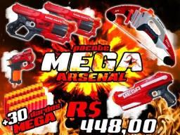 Nerf Pacote Arsenal MEGA (ver descrição)