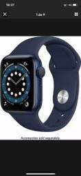 Apple Watch Series 6 GPS, Blue, NOVO LACRADO. 1 Ano Garantia