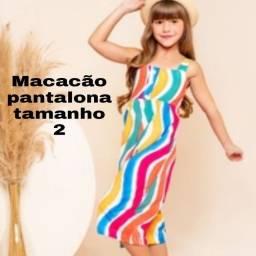 Macacão pantalona tamanho 2