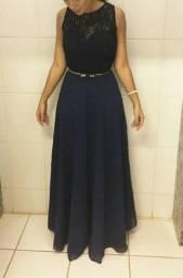 Vestido De Festa Para Madrinha/convidada Azul Marinho