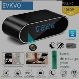 Câmera espiã sem fio Wifi relógio digital 1080p
