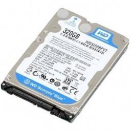 HD de 320gb de notebook (pode ser usado em desktop) - Sata Western Digital