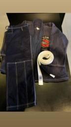 Kimono NAJA ONE TAM A3 AZUL + FAIXA BRANCA  (USADO) ESTADO 9,5/10