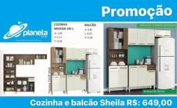armário de cozinha e balcão em promoção