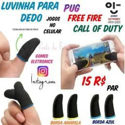 Luvinhas para dedo, jogos no celular , Call of Duty,  Free Fire, etc ( loja Fisica )