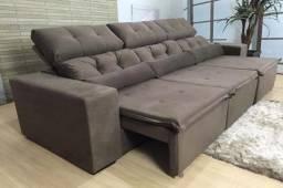 Sofá retrátil e reclinável Petros 2.70m - Super oferta relâmpago, peça já.