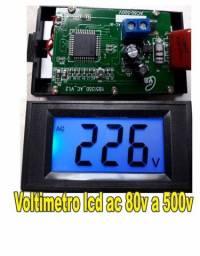 Voltímetro Digital Lcd 80-500v Painel Energia 110v 220v Ac