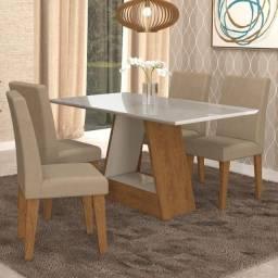 Conjunto Mesa de Jantar Alana com Cadeiras Milena