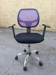 Cadeira de escritório bonita, conservada e barata