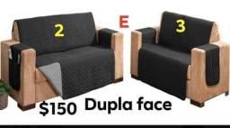 Vendo linda capas de sofa king dupla face 2e3 $$140