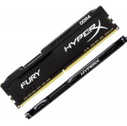 Vendo Memoria Gamer 8gb Ddr4 2666 Mhz Kingston Hyperx Fury Desktop Original Nova!