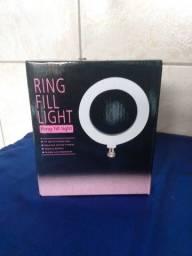 Ring light de mesa 16cm com tripe e controlador de temperatura