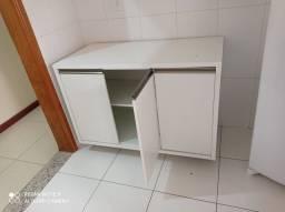 Balcões de cozinha em MDF sem uso, balcão com tampo + aéreo