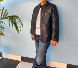 Jaqueta de couro, tamanho 5-7 anos, Original marca TIGOR