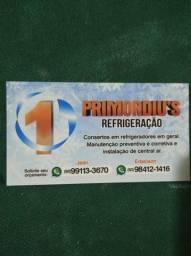 Refrigeração geladeiras e central de ar