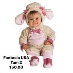 Fantasia de ovelhinha para menina
