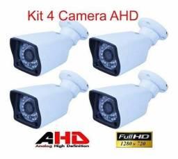 Kit 4 Câmeras AHD. 1.3Mp.InfraVermelho. 720P. alta resolução