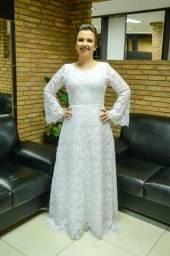 Vendo vestido de noiva semi novo