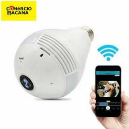 Câmera Ip segurança Lampada Vr 360° panorâmica Wifi