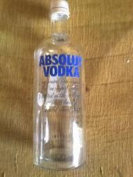 Garrafa Vodka Absolut Tradicional Vazia Com Tampa E Dosador