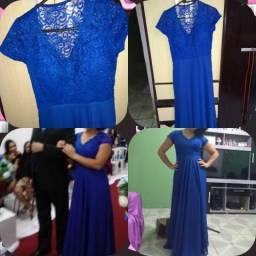 43d870d5cc94f Vestido de festa longo azul royal com bojo G