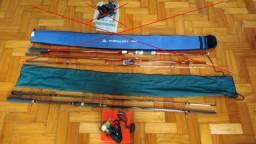 Conjunto Vara Albatroz High Lander e Molinete Daiwa New BG4500 comprar usado  Belo Horizonte