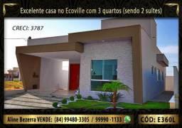 Financia, casa com 3 suítes no Ecoville, sombra, alta qualidade, venha conhecer