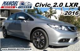 Civic 2.0 LXR - 2016 - Prata - 2016