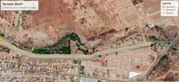 Terreno medindo 420 metros quadrados