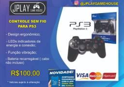 Controle sem fio para PS3 nao acompanha cabo