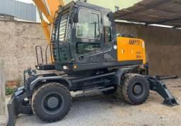 Escavadeira De Pneu Hyundai R200w Com Garra - 2011 Parcelado