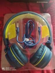 Headphone- fone bluetooth c/ microfone Multilaser PH218 azul e verde - Pulse